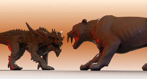 Sabre Tooth And Dragon
