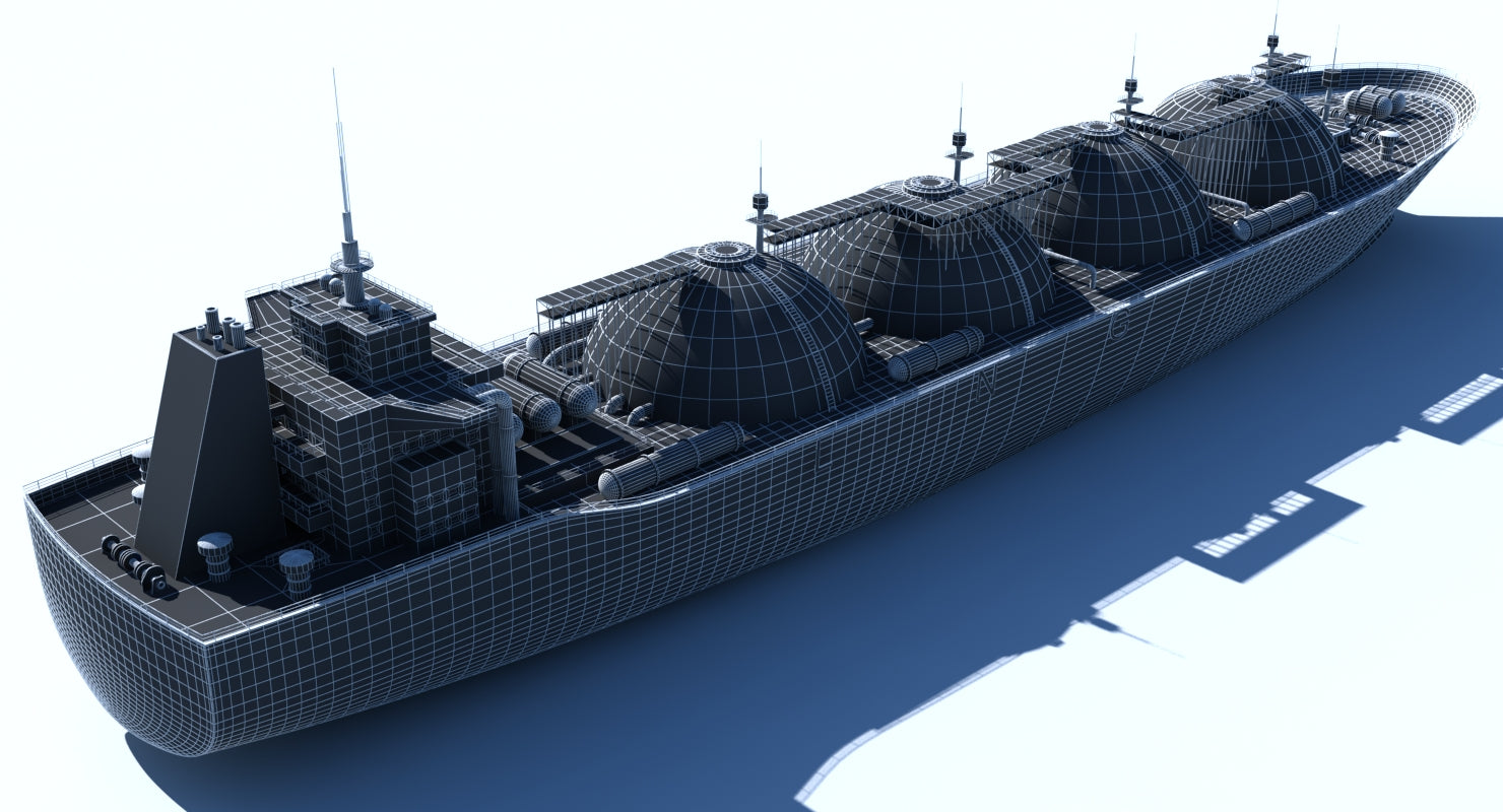 3D LNG Tanker - WireCASE