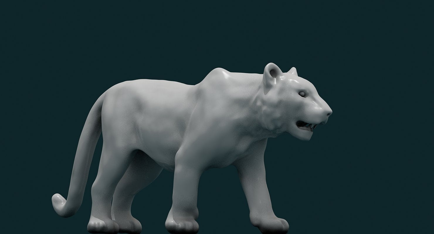 3D Tiger - WireCASE