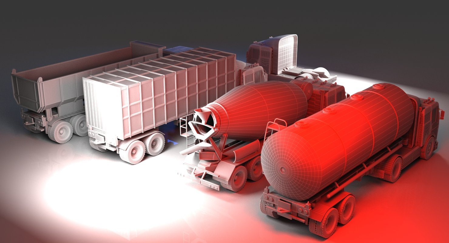 Truck collection 1 3D Model - WireCASE