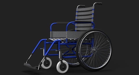 Wheelchair 3D Model - WireCASE