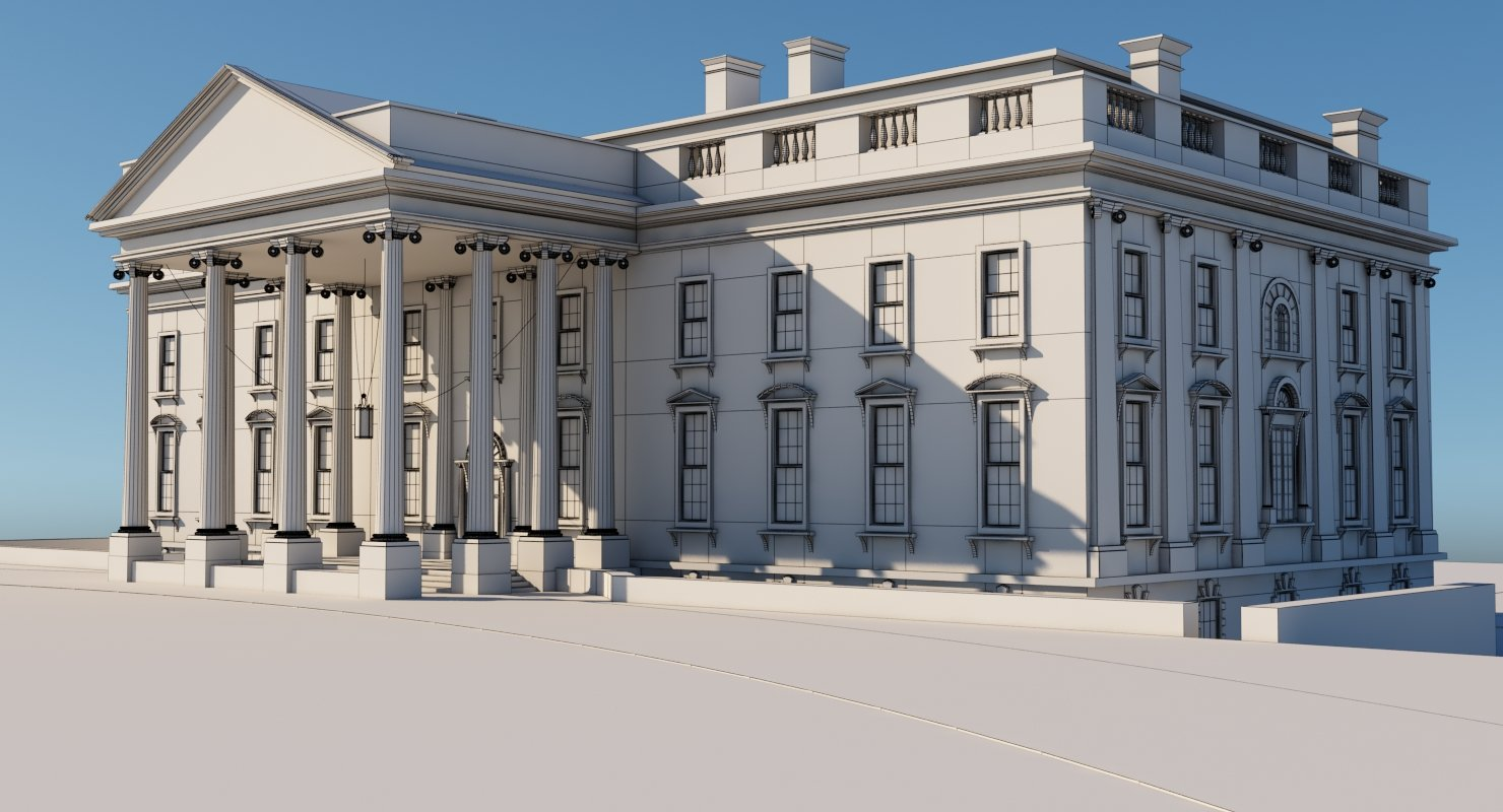 White House 3D Model - WireCASE