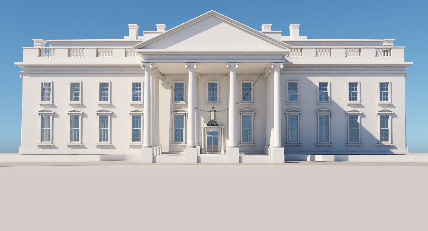 white house 3d model - 3d Model Home