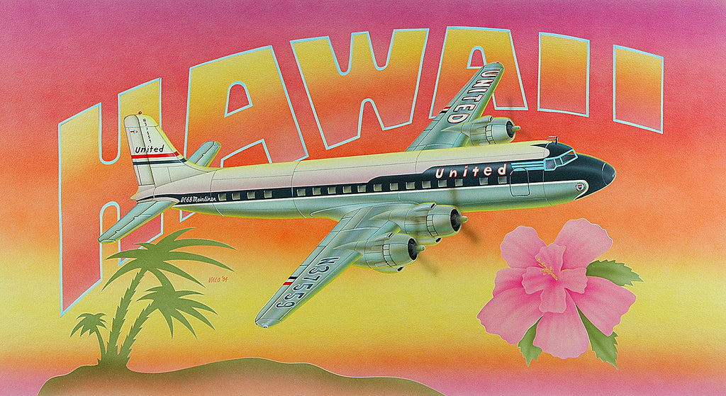 United DC-6 Hawaii Postcard