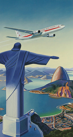 Eastern Airlines 777 Fantasy Travel Poster