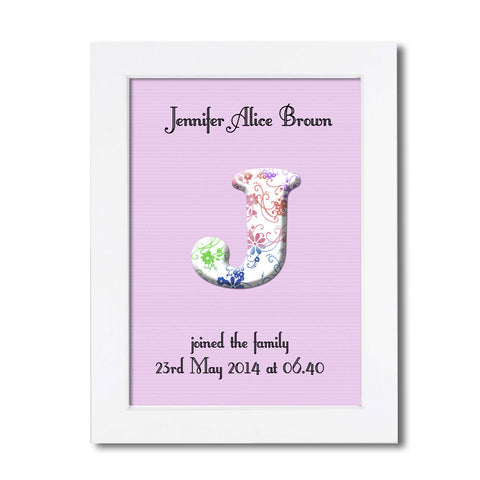 Personalised Baby Name Wall Art