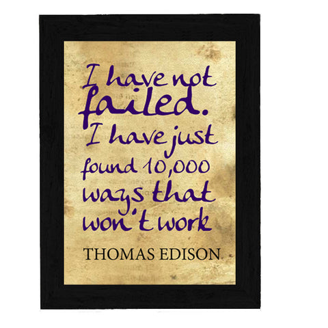 Thomas Edison Quote Poster