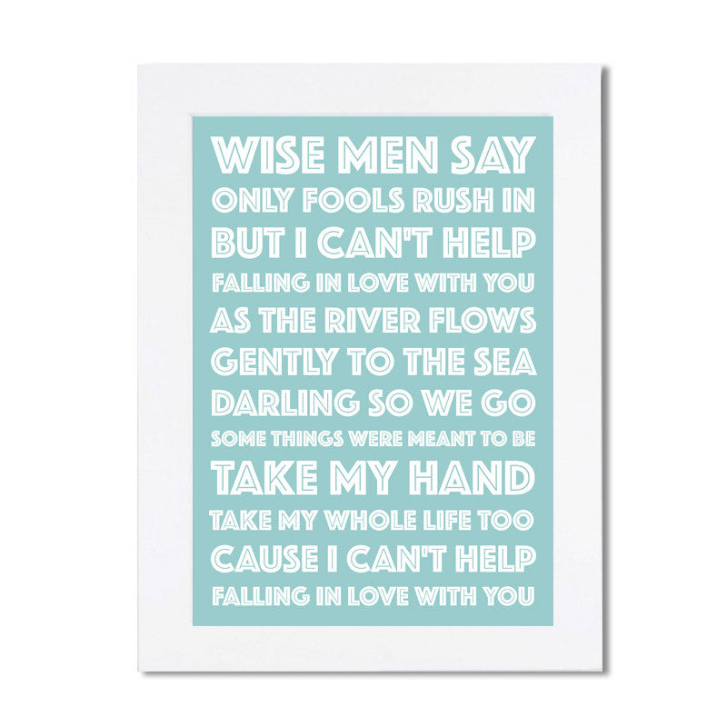 Personalised Song Lyrics Poster