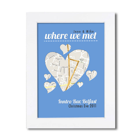 Personalised Map - Where We Met