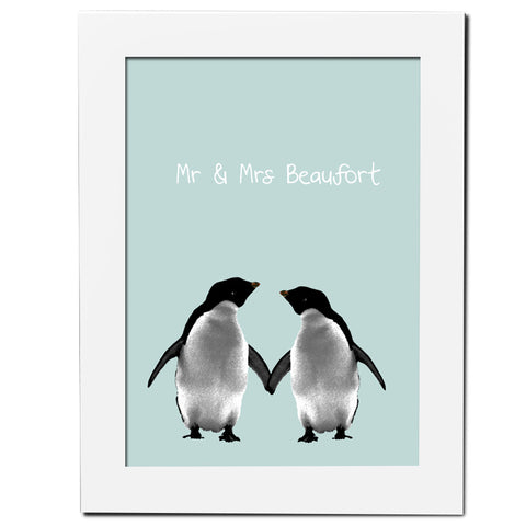 Personalised Penguins Poster