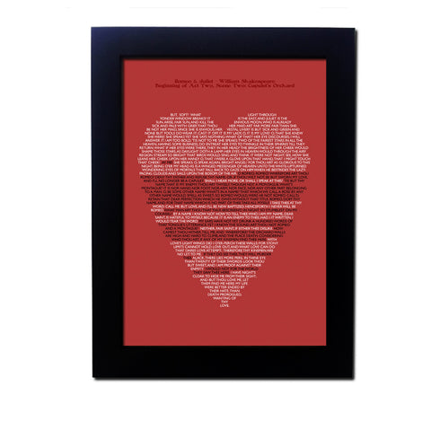 Romeo and Juliet Typography Poster