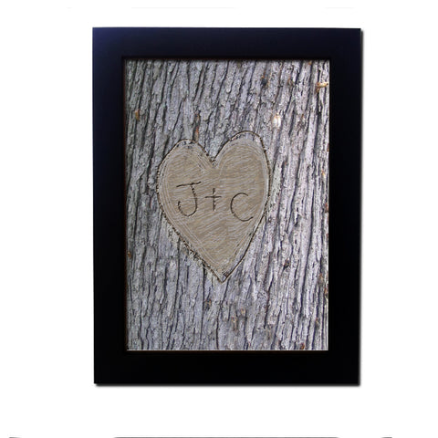 Personalised Tree Carving Poster