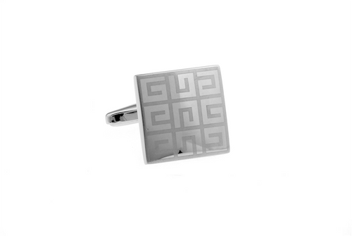 Elegant Maze Pattern Cuff Links