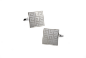 Elegant Maze Pattern Cuff Links, Unbreakable Man - 3