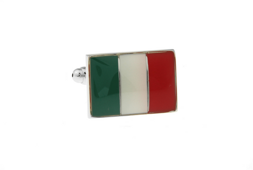 Italian Flag Cuff Links