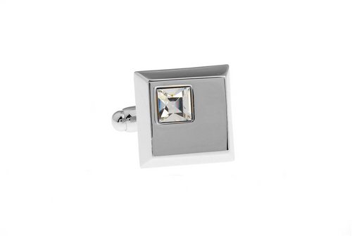 Diamonté Cube Cuff Links, Unbreakable Man - 1