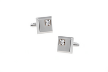Load image into Gallery viewer, Diamonté Cube Cuff Links, Unbreakable Man - 2