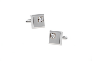 Diamonté Cube Cuff Links, Unbreakable Man - 2
