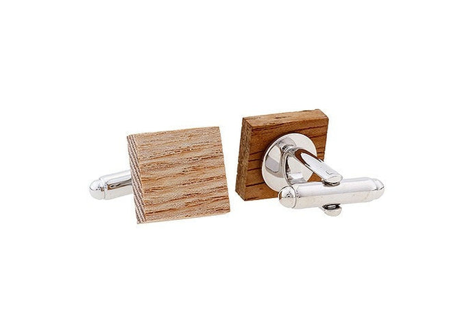 Wooden Cuff Links with Engraving