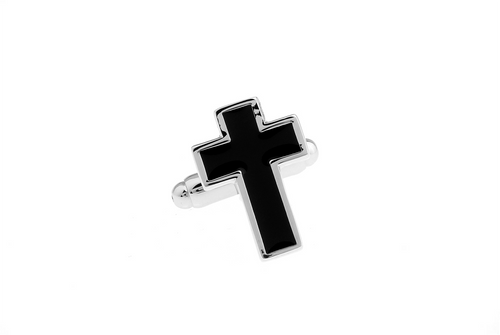 Christian Cross Cuff Links, Unbreakable Man - 1