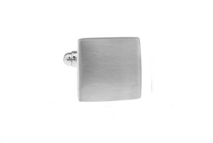 Elegant Brushed Cuff Links with engraving, Unbreakable Man - 1