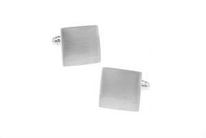 Elegant Brushed Cuff Links with engraving, Unbreakable Man - 2