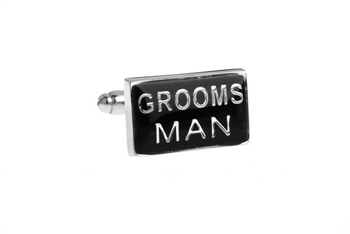 Groomsman Cuff Links, Unbreakable Man - 1