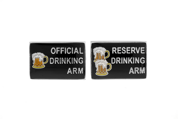 Beer Cuff Links, Unbreakable Man - 1