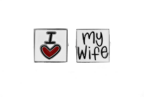 I Love My Wife Cuff Links, Unbreakable Man - 1