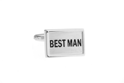 Best Man Cuff Links - Silver