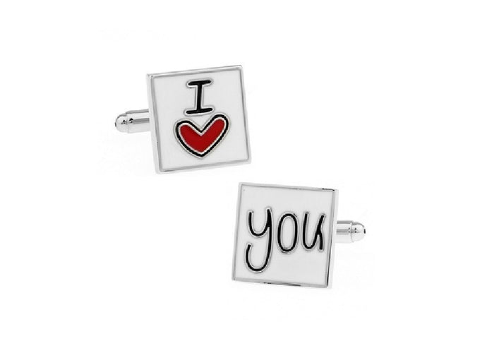 I Love You Cuff Links