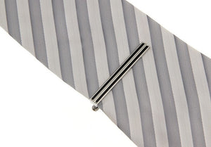 Black Striped Tie Bar, Unbreakable Man - 3