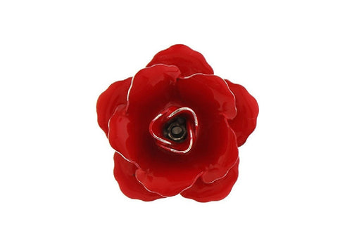 Red Rose Lapel Badge