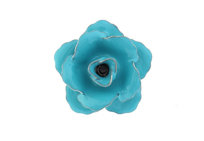 Blue Rose Lapel Badge