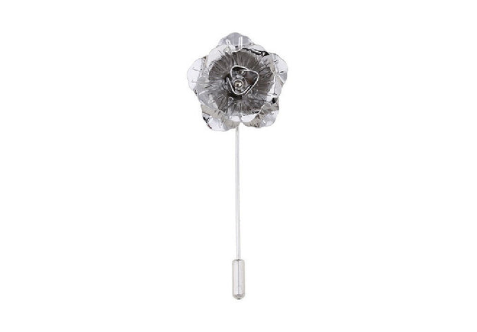 Silver Rose Lapel Badge
