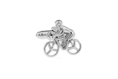 Cyclist Cuff Links, Unbreakable Man - 1