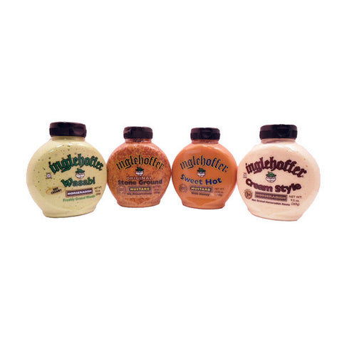 Bundle - 4 Items Inglehoffer Horseradish and Mustard Sauces - Wasabi Horseradish, Creamy Horseradish, Sweet Hot Mustard, Stone Ground Mustard1.png