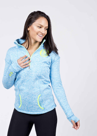 IGU Womens 1/4 Zip Pullover w/Runner's Thumb