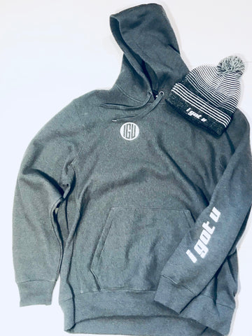 Mens Heavy I GOT U Hoodie and Hat