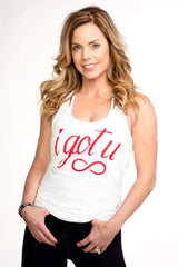 I GOT U Valentine's Day burnout white tank