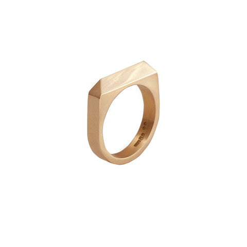 14 carat gold Rooftop Ring by Edge Only
