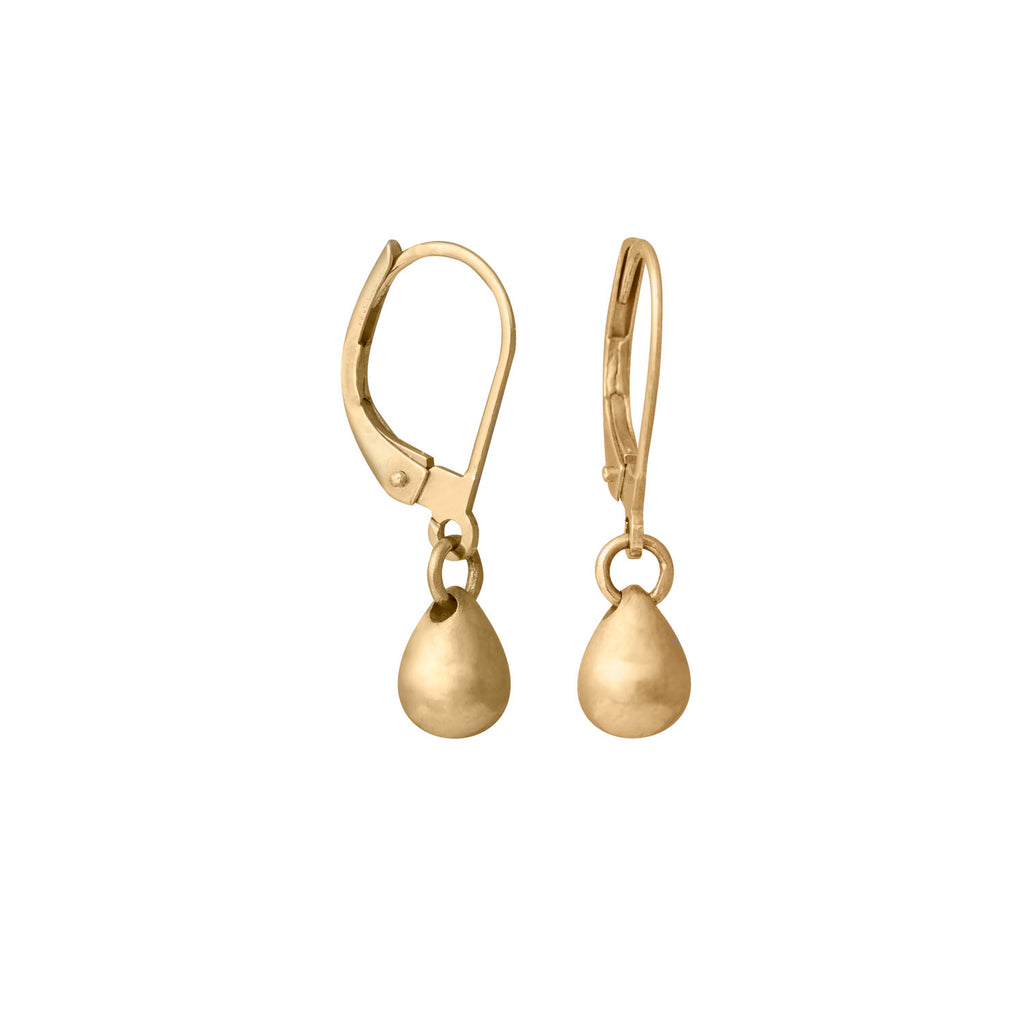 Edge Only jewellery 14 carat gold teardrop earrings