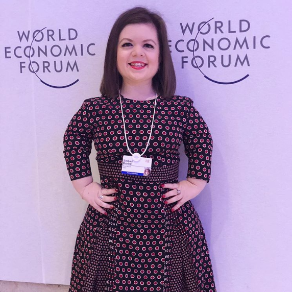A glimpse at the recent travels of academic, writer and activist Sinéad Burke. It is exciting for us to see her wear her custom Wedge Ring to so many glamorous events and places - from BoF Voices to the World Economic Forum.