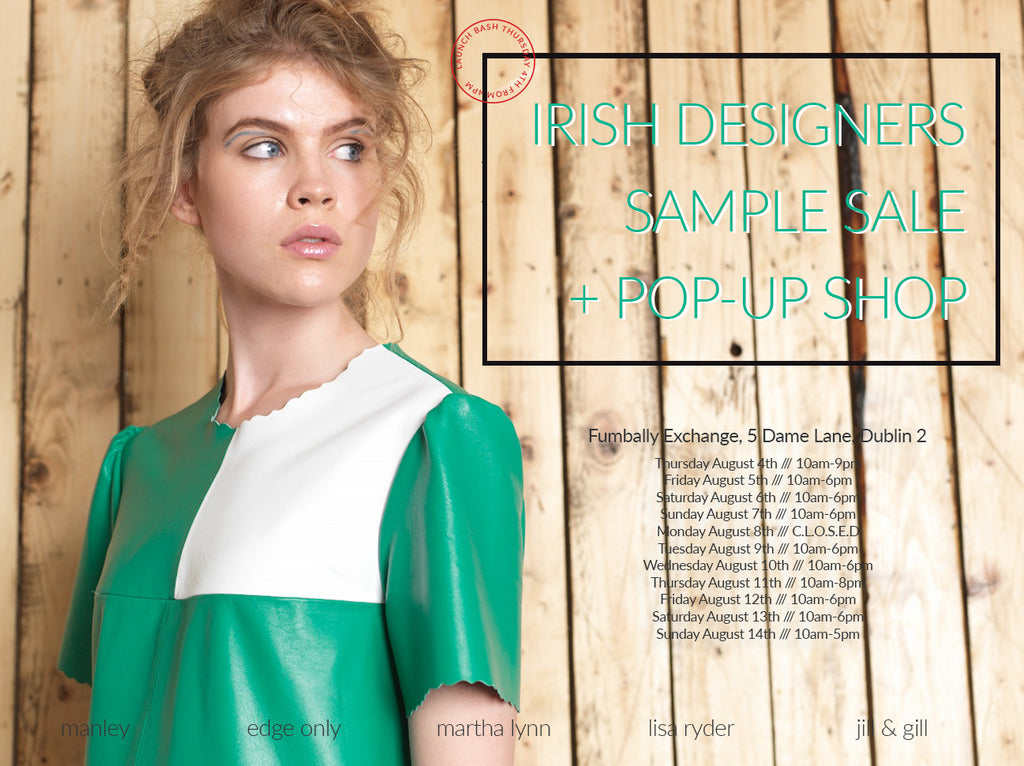 Irish Designer Pop Up sample Sale, Manely Edge Only jewellery