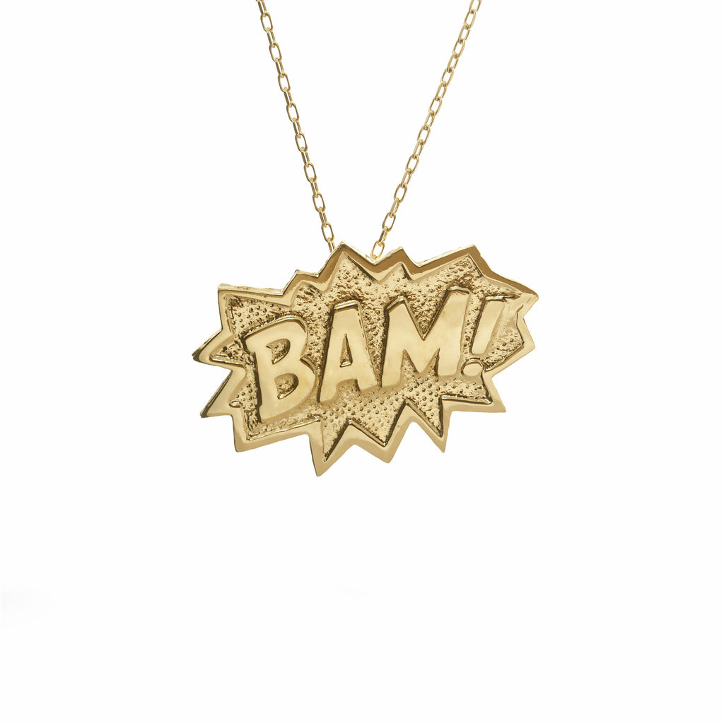 BAM! Necklace Extra Large in 18 carat gold vermeil. Edge Only jewelry