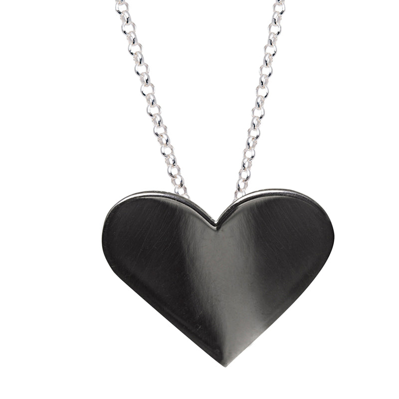 Black Heart Pendant Need It Edge Only Jewellery