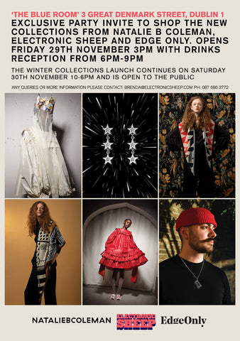 Winter Collection Launch invite Natalie B Coleman, Electronic Sheep, Edge Only