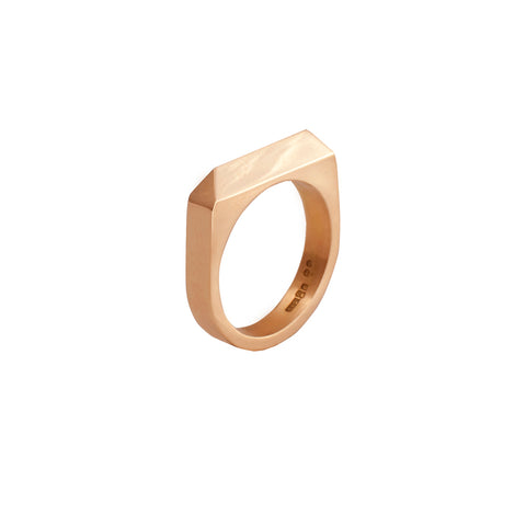 Edge Only Rooftop Ring in 14 carat gold