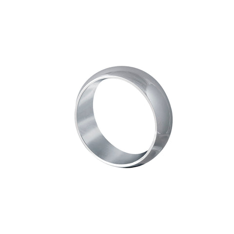Edge Only wide mens wedding band 8mm comfort fit white gold band