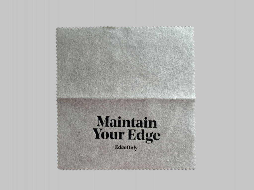 Edge Only Silver Cloth. Maintain Your Edge